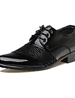 Men's Oxfords Fashion Wedding Shoes Casual Leather Shoes Party & Evening Flat Heel Lace-up Black