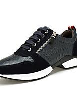 Men's Sneakers Comfort Leather Casual Black Blue