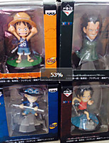 One Piece Cosplay PVC 8cm Anime Action Figures Model Toys Doll Toy 4 Role