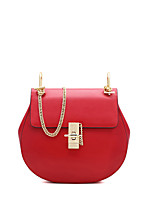 LaFestin® Women Cowhide Shoulder Bag Red / Black-608373