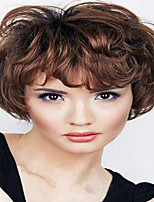 Short Wavy Hair Medium Auburn Color Synthetic Wigs for Women