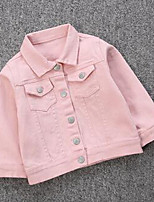 Girl's Casual/Daily Solid Jacket & CoatCotton Spring / Fall Pink / White