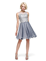 TS Couture® Cocktail Party Dress Ball Gown Bateau Knee-length Lace / Tulle with Beading