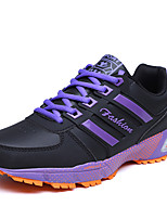 Women's Athletic Shoes Spring Fall Mary Jane Leatherette Outdoor Athletic Flat Heel Lace-up Green Purple Red Orange Hiking