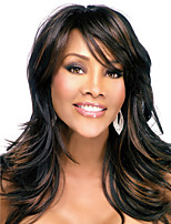 Highlight Black Brown Color Fashion Beauty Elegant Heat Resistant Wigs High Quality