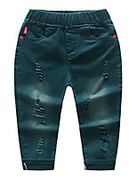Boy's Casual/Daily Solid PantsCotton Spring / Fall Black / Green