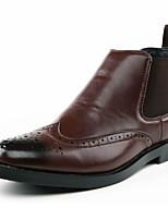Men's Boots Fashion High Top Bullock Shoes Casual Flat Heel Gore / Slip-on Black / Brown Walking EU39-43
