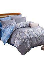 Floral Define capa de edredão 4 Peças Poliéster Estampa Impressão Reactiva Poliéster Casal / Full-size / Queen / King4peças (1 edredão, 1