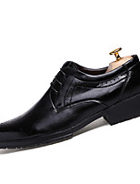 Men's Oxfords Spring / Fall Comfort Leatherette Casual Flat Heel Lace-up Black / Red Sneaker