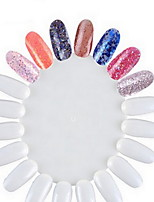 Manicure Works Display Board Wholesale Nail Polish Display Board Fake Nails Round 20 Nail Color