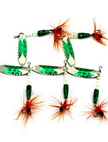 1 pcs Fishing Lures Metal Bait Green 4.7 g Ounce mm inch,Metal Bait Casting