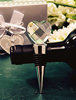 Crystal Sweetheart Bottle Stopper Practical barware Favors
