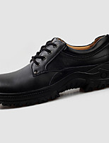 Men's Oxfords Spring / Fall / Winter Platform PU Casual Low Heel Lace-up Black / Brown Others
