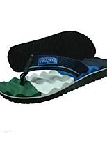 Herren-Slippers & Flip-Flops-Lässig-Kunststoff-Flacher AbsatzSchwarz Blau Burgund