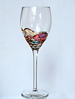 1PC Creative Roses Glass Red Wine Glassware Champagne Glass