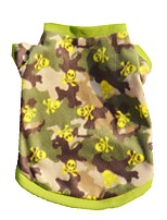 Fleece Warm Green Camouflage Coat Autumn Winter Dog Clothes for Pets