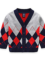 Boy's Casual/Daily Check Sweater & CardiganCotton Spring / Fall Blue / Red / Yellow
