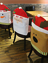 divat Télapu sapka piros sapka bútor szék hátlap karácsonyi asztalnál fél karácsony új év dekoráció