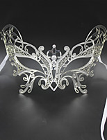 Butterfly Metal Laser Cut Venetian Masquerade Mask with Clear Stones3008A3