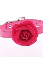 Gatos / Perros Cuello Ajustable/Retractable / Cosplay / Carrera / Manos Libres / Casual Flor Rojo / Azul / Rosado / Morado / Rosa Cuero PU