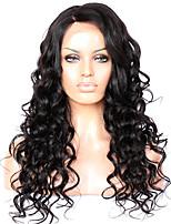 nova onda solta 8 a 22 polegadas brasileiro do cabelo humano perucas 4,5 parte profunda rendas frente perucas glueless para as mulheres