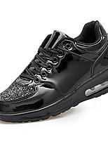 Черный Серебристый Золотистый-Мужской-Для прогулок Повседневный-Полиуретан-На плоской подошве-Удобная обувь-Кеды