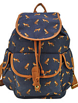 Women PU / Canvas Casual / Outdoor Backpack White / Blue / Black
