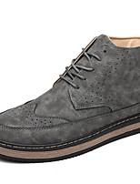 Women's Boots Winter Comfort PU Casual Chunky Heel Zipper Black / Green / Khaki Others