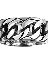 Gothic Style Men's Fashion Women Stainless Steel Ring Anillos US Size 8/9/10/11 Jewelry Punk Curb Chain Gift