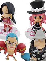 One Piece Cosplay PVC 8cm Anime Action Figures Model Toys Doll Toy Four