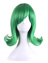 Anime Cospaly Party Halloween Hairstyle Green Color Wave Harajuku Style