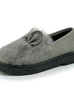 נשים-נעליים ללא שרוכים-PU-נוחות-שחור / לבן / אפור-שמלה / קז'ואל-עקב שטוח