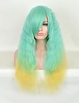 vert vague naturelle à la couleur jaune pour les perruques afro américain femmes noires