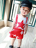Boy's Casual/Daily Print Clothing SetCotton Summer Black / Blue / Red