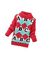 Children's Casual/Daily Striped Sweater & CardiganWool Winter Black / Red / Yellow / Gray