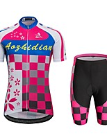 Спорт Велокофты и велошорты унисекс Короткие рукава ВелоспортДышащий / Быстровысыхающий / С защитой от ветра / Анатомический дизайн /