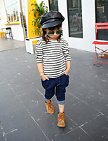 Girl's Casual/Daily Striped TeeCotton Spring / Fall Gray