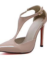 Women's Heels Summer / Fall / Winter Novelty PU Wedding / Party & Evening / Dress Stiletto Heel Black / Almond