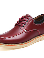 Men's Oxfords Spring / Summer / Fall / Winter Fashion Boots Leather Office & Career / Party & Evening / Casual Flat Heel