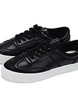 Women's Sneakers Spring / Summer / Fall / Winter Others Leatherette Outdoor / Athletic / Casual Flat Heel Lace-up Black / White Sneaker