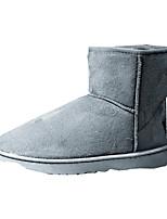 Черный / Синий / Коричневый / Желтый / Зеленый / Красный / Серый-Мужской-На каждый день-Полотно-На плоской подошве-Удобная обувь-Ботинки