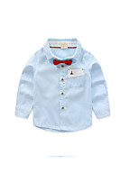 Boy's Casual/Daily Solid TeeCotton Spring / Fall Blue / Green / White