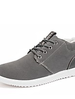 Черный Синий Серый-Мужской-Для прогулок Повседневный-Полиуретан-На плоской подошве-Удобная обувь-На плокой подошве