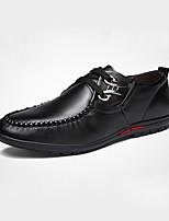 Men's Oxfords Spring / Fall Comfort PU Casual Flat Heel  Black / Blue / Brown Sneaker