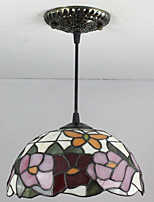25W Pendant Light ,  Tiffany / Retro Painting Feature for Mini Style Metal Bedroom / Entry