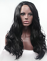 Sylvia Glueless Synthetic Lace front Wig Natural Black Heat Resistant Long Natural Wave Synthetic Wigs For Black Women