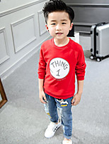 Boy's Casual/Daily Print Clothing SetCotton Spring / Fall Red