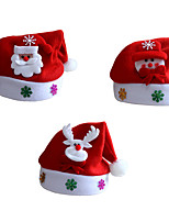 3pcs/Lot Unisex Adult Children Santa Claus Xmas Christmas Hat Santa's Caps for Christmas Party Costume Decoration