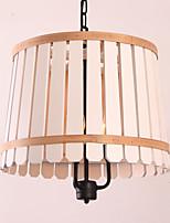 40W Závěsná světla ,  Retro / Země Dřevo vlastnost for návrháři KovObývací pokoj / Ložnice / Jídelna / studovna či kancelář / dětský