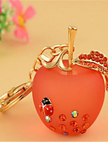 Apple Keychain Women Korea Creative Small Gift Resin Metal Key Chain Car Key Pendant